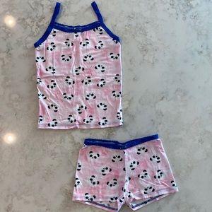 Esme / Pink panda cami PJ set